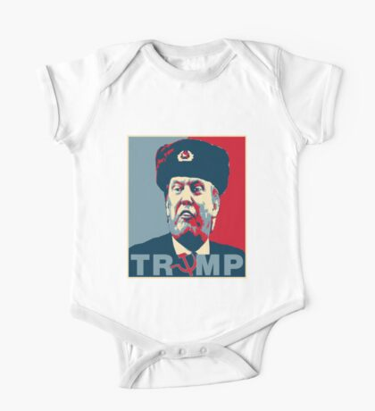 Trump Russia Poster Kids Clothes