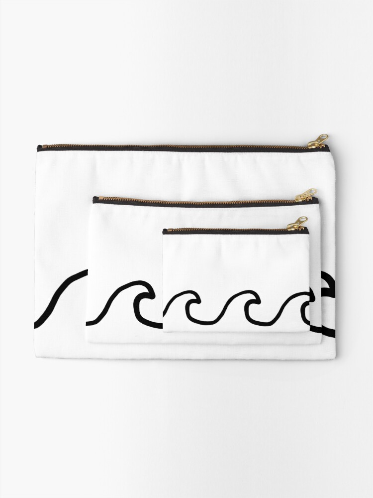 Alternate view of Waves Zipper Pouch