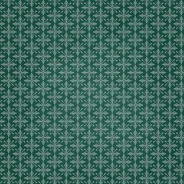 Christmas – Green Snowflakes by Lukovka