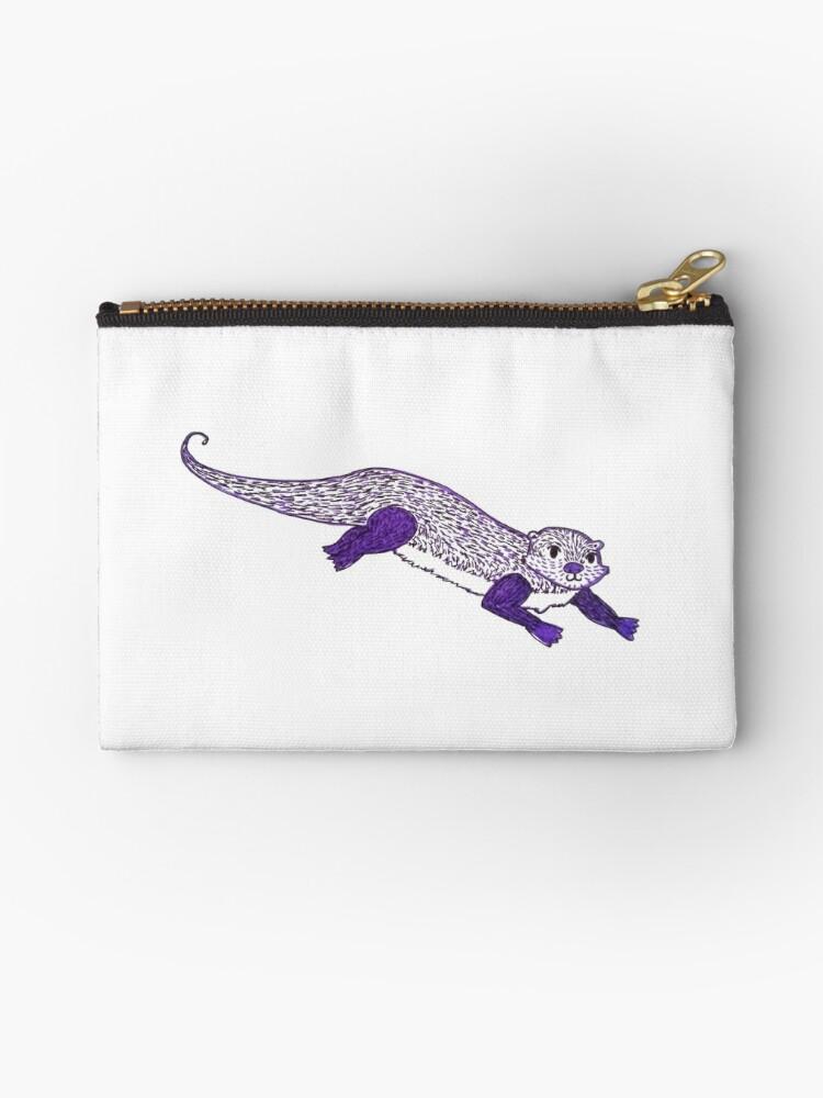 Purple Otter by Georgina Finch