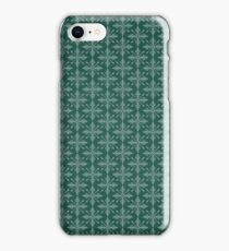 Christmas – Green Snowflakes iPhone Case/Skin