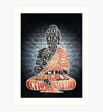 The Eightfold Path Buddha Art Print
