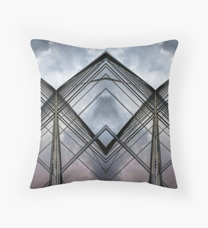 Glass Lines 2 Throw Pillow