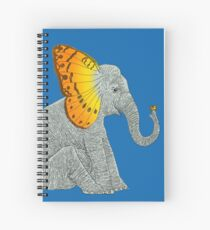 Elephant and Butterfly Spiral Notebook