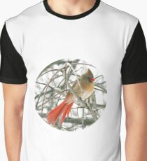Redbird with Red Tail Graphic T-Shirt