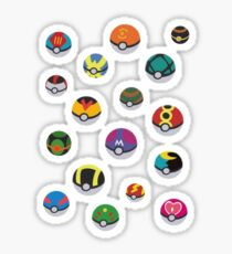 Pokeballs rain Sticker