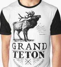 GRAND TETON NATIONAL PARK WYOMING ELK ADVENTURE Graphic T-Shirt