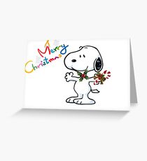 snoopy and marry christmas Greeting Card