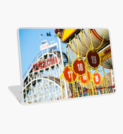 Coney Island Astroland and Cyclone: Brooklyn, NYC Laptop Skin