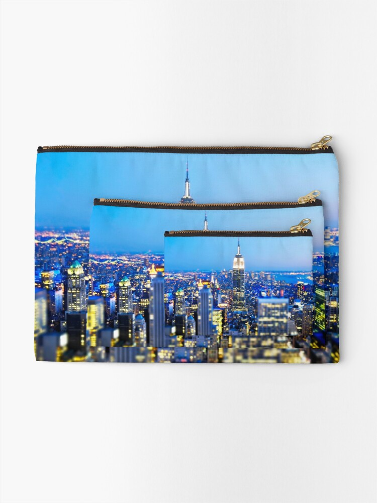 Alternate view of Empire State Building at Night: NYC Zipper Pouch