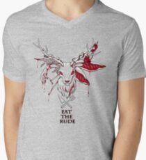 Hannibal T-shirt(Black) Men's V-Neck T-Shirt