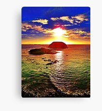 Nobbies Sunset Phosphoresence Canvas Print