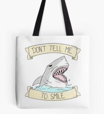 don't tell me to smile - color Tote Bag