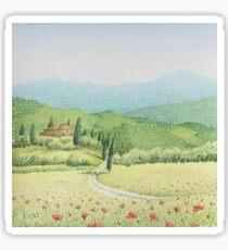 Tuscan Vineyard, Tuscany, Italy Sticker
