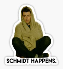 schmidt happens - new girl Sticker