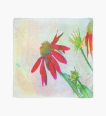 Red Gerbera Graphic Scarf