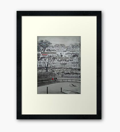 Seaside Houses Framed Print