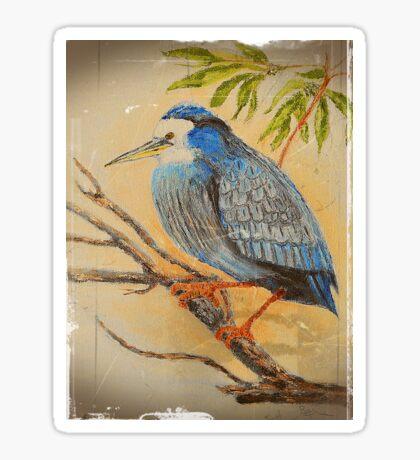 Vintage Style Bird Sticker