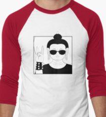 The Heavy Metal Buddha Men's Baseball ¾ T-Shirt