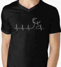 Camiseta para hombre de cuello en v CAZA DEL CORAZÓN