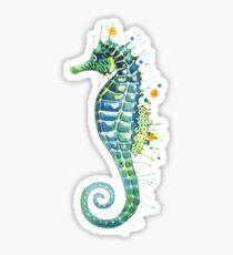 Seahorse - Green Sticker