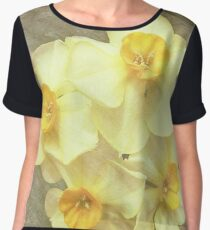 NARCISSUS BEAUTIFUL EYES (Daffodils) Women's Chiffon Top