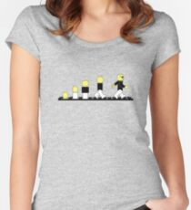 Evolution of lego man Women's Fitted Scoop T-Shirt