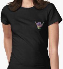 Rainbow Smoke Hang Loose Shaka Sign T-Shirt
