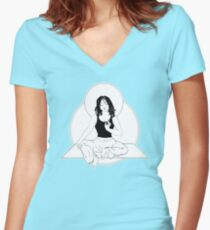 The Bodhichica Women's Fitted V-Neck T-Shirt