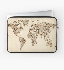 Cats Map of the World Map Laptop Sleeve