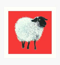 Suffolk sheep painting Art Print