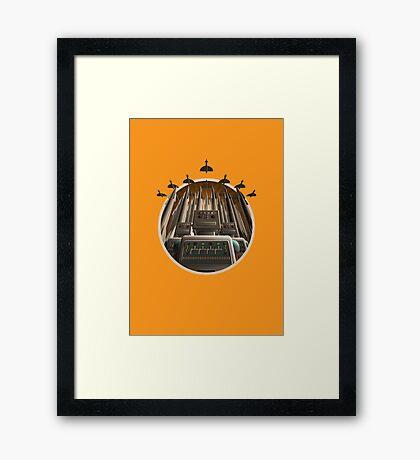 Robot Crest Framed Print