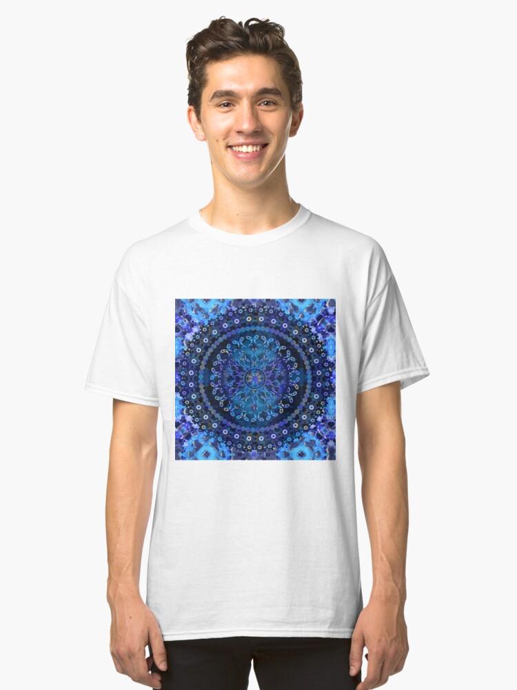 Alternate view of Blue Mosaic Mandala Classic T-Shirt