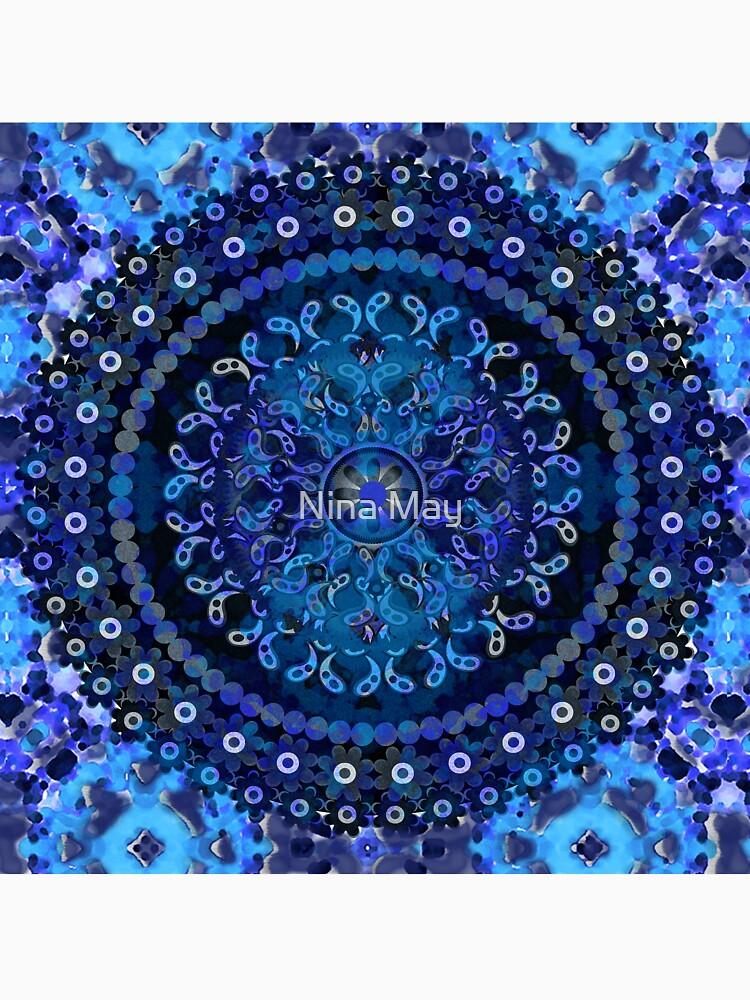Blue Mosaic Mandala by ninabmay