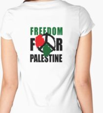 PALESTINA Women's Fitted Scoop T-Shirt