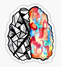 Left Brain Right Sticker