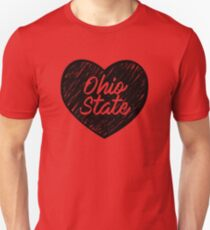 I Love Ohio State University - I Heart Buckeyes OSU Unisex T-Shirt