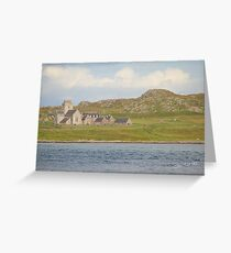 Iona Abbey from Fionnphort Greeting Card