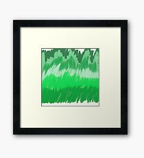 Green, green world. Framed Print