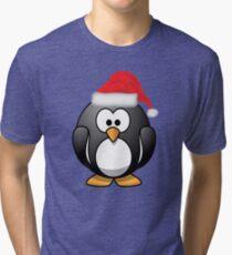 Christmas Penguin Shirt Tri-blend T-Shirt