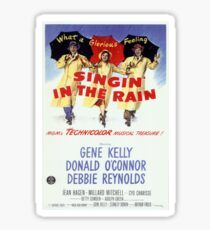 Singin' In The Rain Classic Movie Poster Sticker