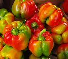 Red-Yellow-Green Peppers by John Ayo