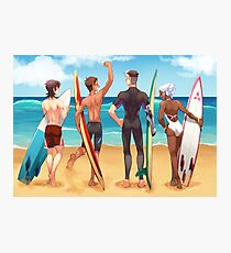Voltron Beach - Surfers Photographic Print