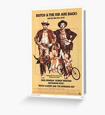 Butch Cassidy and the Sundance Kid Classic Movie Poster Greeting Card