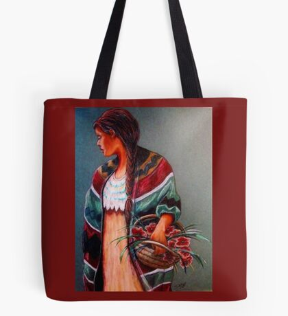"""The Flower Girl #2"" Tote Bag"