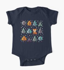 Fox in the Forest - on Gray Kids Clothes