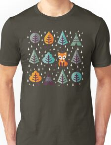 Fox in the Forest - on Gray Unisex T-Shirt