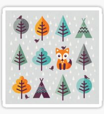 Fox in the Forest - on Gray Sticker
