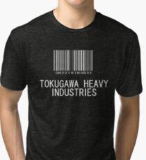 Tokugawa Heavy Industries (White) (Metal Gear) Tri-blend T-Shirt