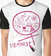 Steminist with Lipstick STEM Feminist Graphic T-Shirt